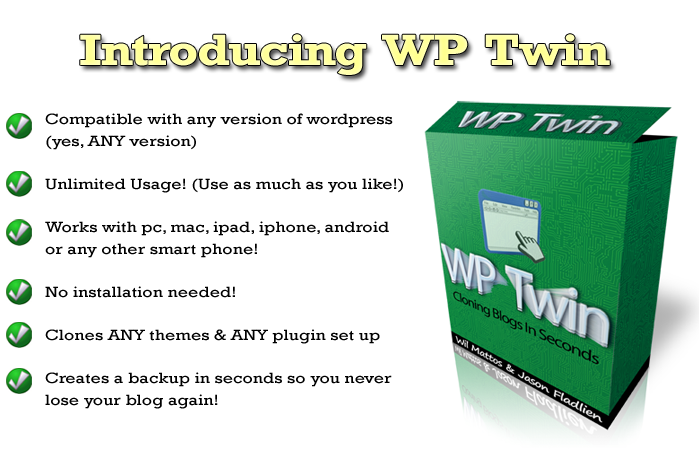 Introducing WP Twin – Clone a WordPress Blog in under 57 seconds