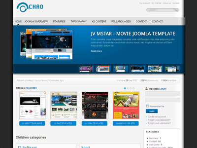 JV Chao Creative Joomla 1.7 & 1.5 Template by ZooTemplate