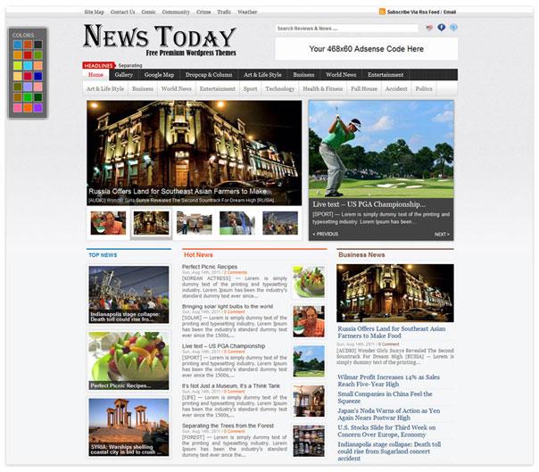 NEWS TODAY FREE Premium News WordPress Themes