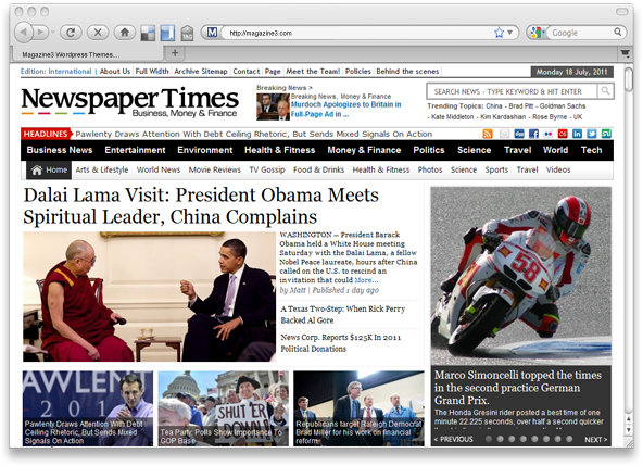 NewspaperTimes v1.1 WordPress Theme by Magazine3