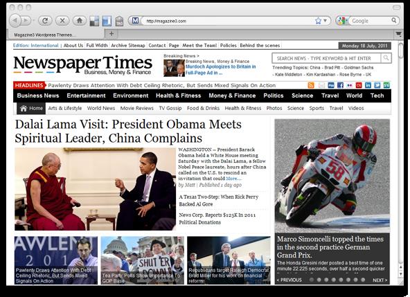 NewspaperTimes v1.1 WordPress Theme by Magazine3