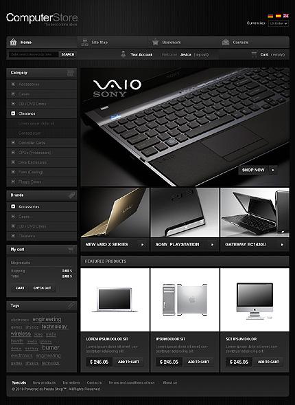 PrestaShop – Black Computer Store