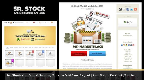 Sr. Stock – digital delivery marketplace app by mojothemes