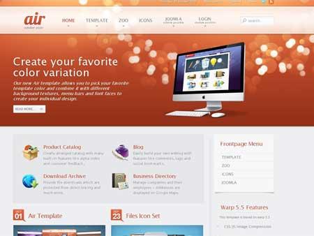 YooTheme Air v5.5.10 Joomla 1.5 & Joomla 1.6