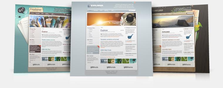 YooTheme Explorer v5.5.14 Joomla 1.5 & Joomla 1.6 – Premium Joomla Template