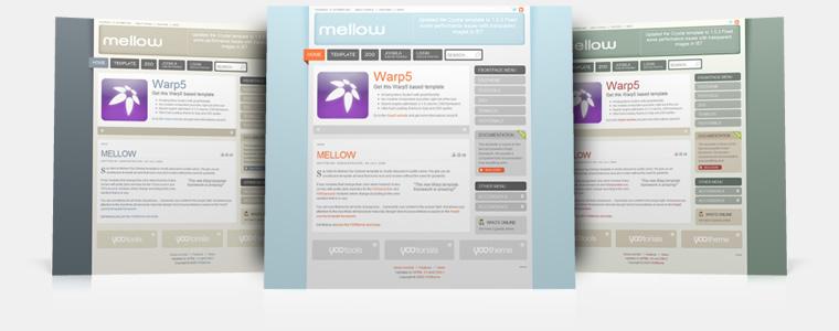 YooTheme Mellow v5.5.14 Joomla 1.5 & Joomla 1.6 – Premium Joomla Template
