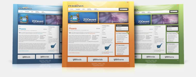 YooTheme Phoenix v5.5.14 Joomla 1.5 & 1.6 – Premium Joomla Template