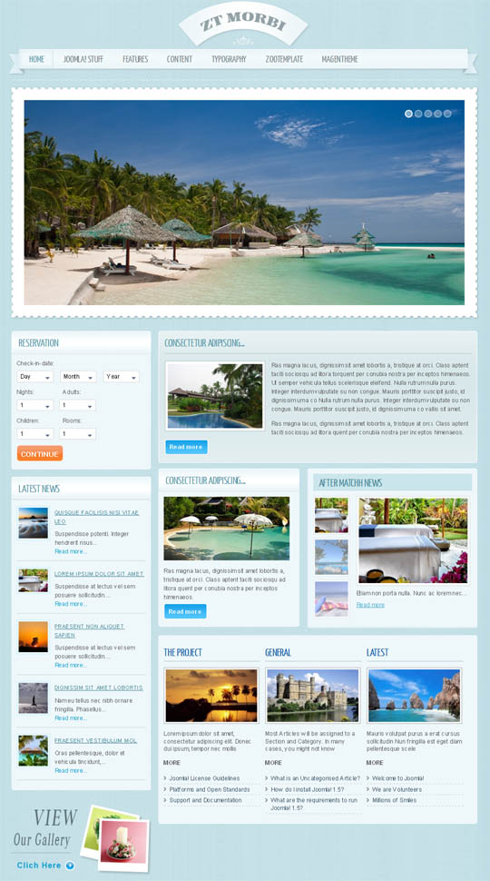ZT Morbi – Travel Joomla Templates for Joomla 1.5 -1.6! by ZooTemplate
