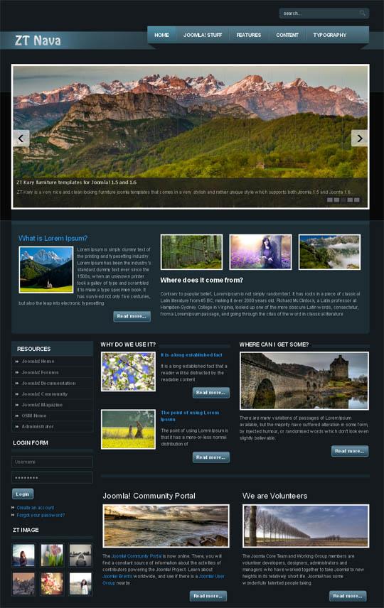ZT Nava Portfolio Templates for Joomla 1.5 -1.6! by ZooTemplate