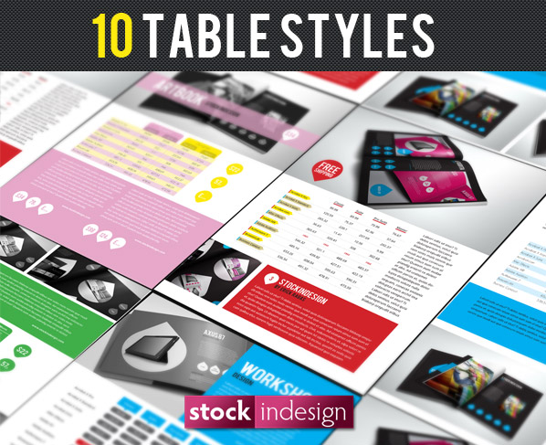 10 Amazing Table Styles for Adobe InDesign
