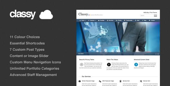 Classy Business & Portfolio WordPress Theme V1.21 – ThemeForest