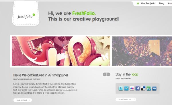 FreshFolio – Design Portfolio & Photography WordPress Theme v1.0.7