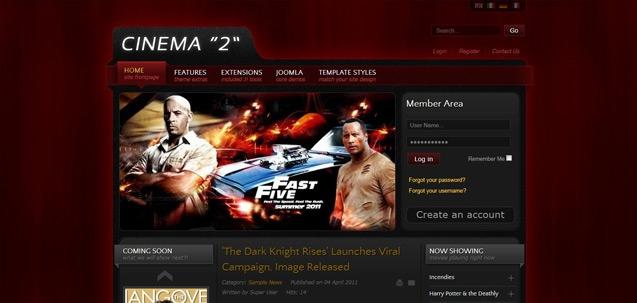 IT Cinema 2 – Joomla! 2.5 Joomla templates 2012