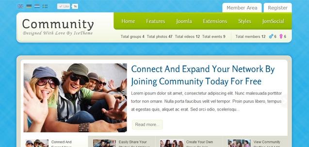 IT Community – Joomla! 2.5 Joomla templates 2012