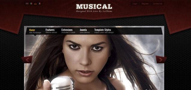 IT Musical – Joomla! 2.5 Joomla templates 2012