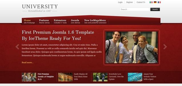 IT University – Joomla! 2.5 Joomla templates 2012