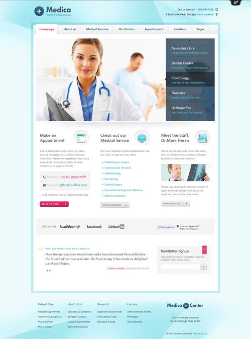 Medica – Health Clinic WordPress Theme v1.0.1