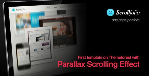 Scrollfolio – Parallax Scrolling Effect portfolio 2012 by ThemeForest