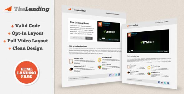 TheLanding Landing Page ThemeForest