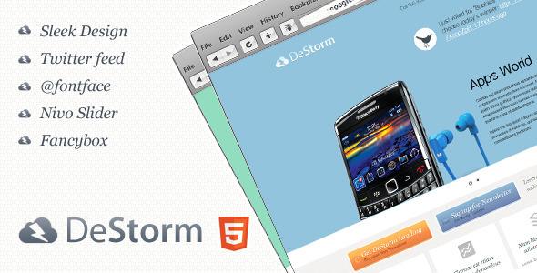 ThemeForest – DeStorm Premium Landing Page 2012