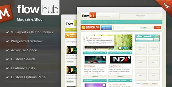 ThemeForest – Flowhub WordPress Blog / Magazine Theme v3.0.1