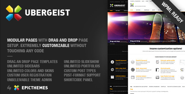 Ubergeist – All-purpose WordPress theme v1.0.8 ThemeForest
