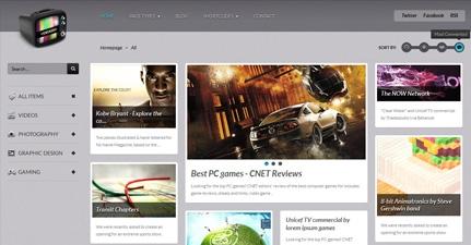 VideoGrid – Multimedia Showcase WordPress theme 2012 by ThemeFuse