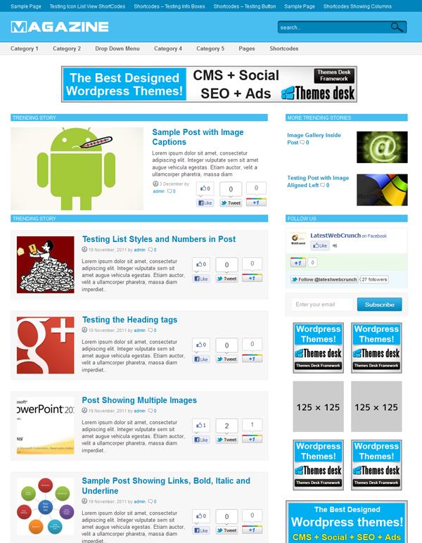 WordPress Magaizine Theme 2012 – Brand New Mashable Clone Theme