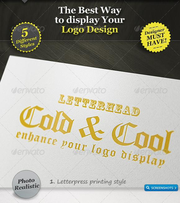 5 Realistic Logo Mockups – Smart Template Display GraphicRiver