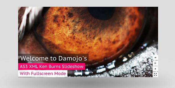 AS3 XML Ken Burns Slideshow Banner Fullscreen – Activeden