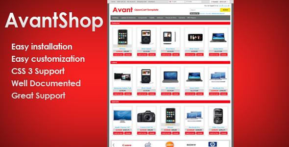 AvantShop – Premium OpenCart Template 1.5.1.3
