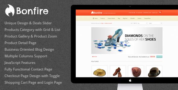 Bonfire – eCommerce HTML Theme 2012