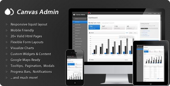 Canvas Admin – Premium responsive admin template 2012 by ThemeForest