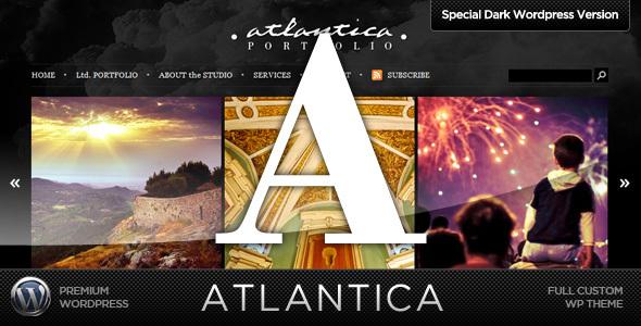 Dark Atlantica WordPress Portfolio Theme