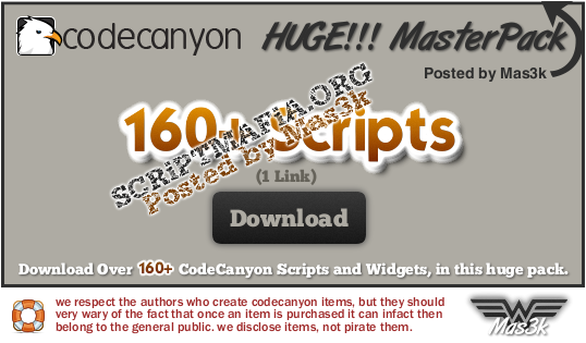 EXCLUSIVE! – 160+ CodeCanyon Nulled Scripts – HUGE Collection (2012)