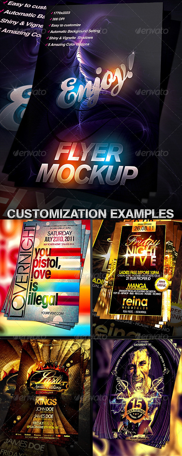 Flyer Mock-up Template GraphicRiver