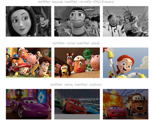 Free jQuery Plugin for Make Stylish Image Hover Effects : Adipoli