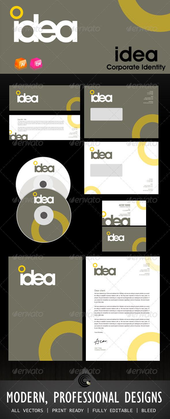 Idea Design Corporate Identity GraphicRiver