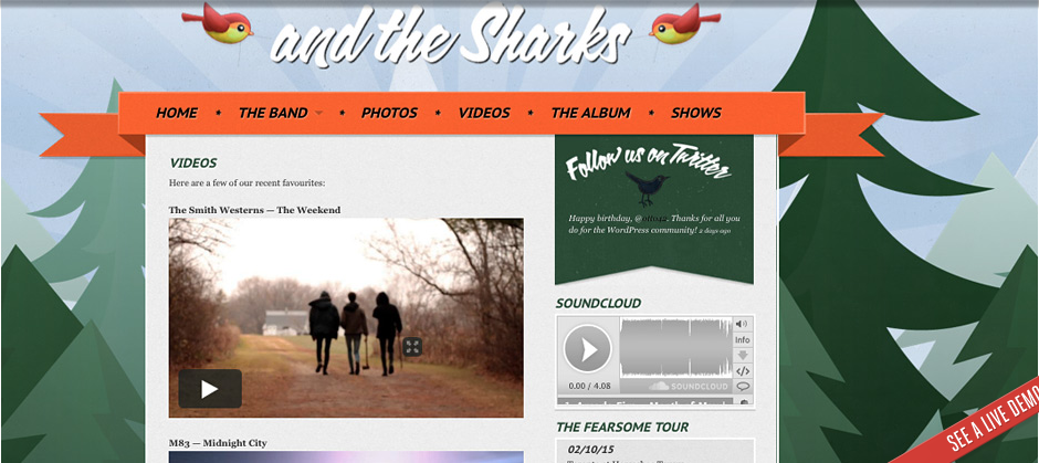 Indie Fest – Foxhound band themes WordPress Theme