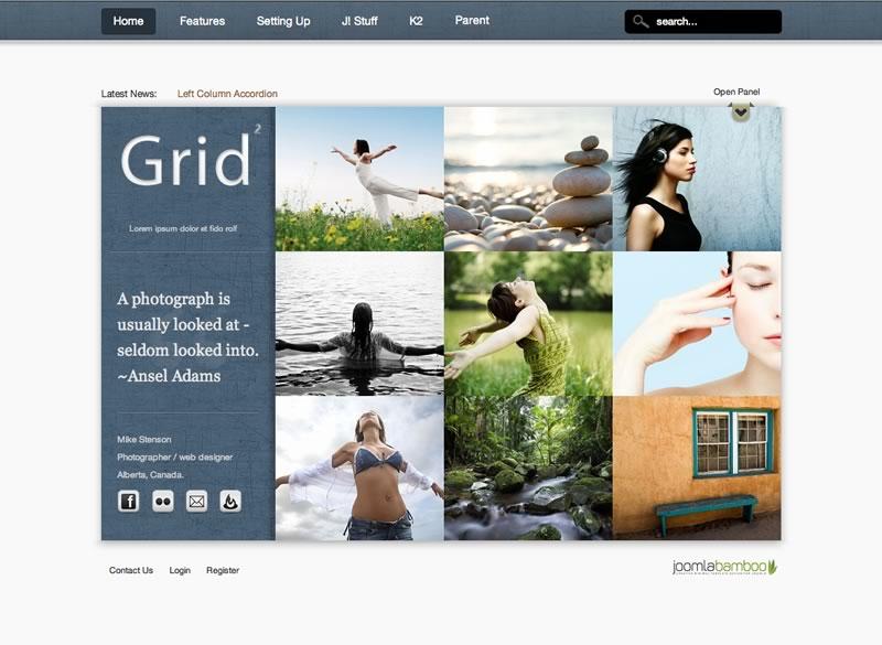 JB Grid2 – Joomla 2.5 Magazine photography template 2012