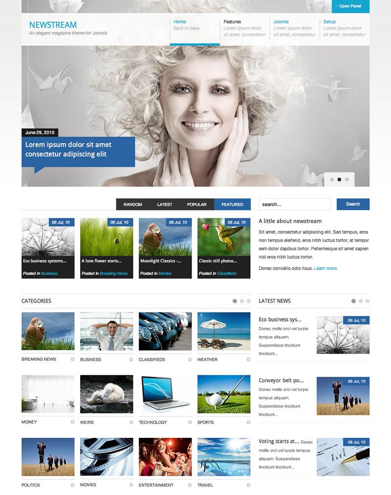 JB Newstream – Joomla 2.5 News Magazine template 2012