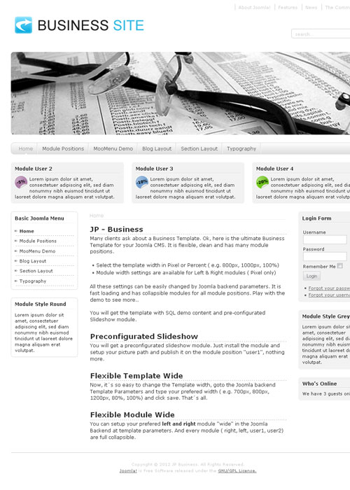 JP Business – Joomla 1.5 – 2.5 template