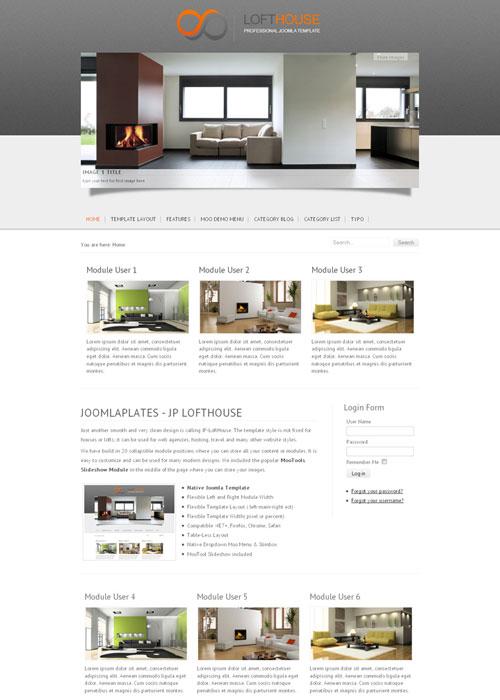 JP Lofthouse for Joomla J1.5 – J2.5 template 2012