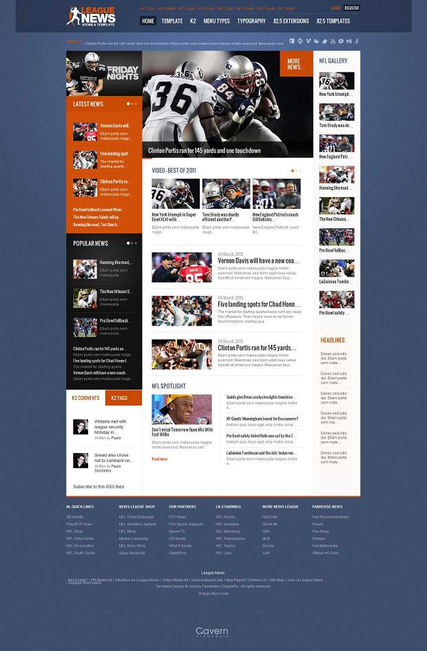 League News 2.7.2 Gavick Joomla 2.5 Template