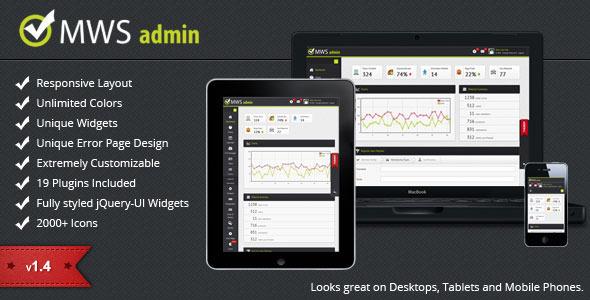 MWS Admin – Full Featured Admin Template 2012