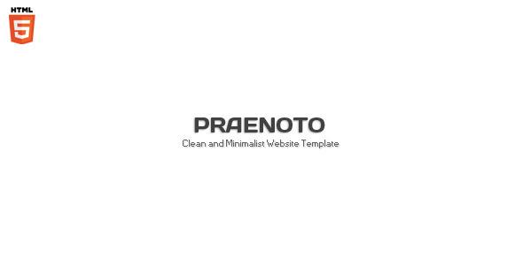 Praenoto – Clean & Minimalist Web Site Template 2012 ThemeForest