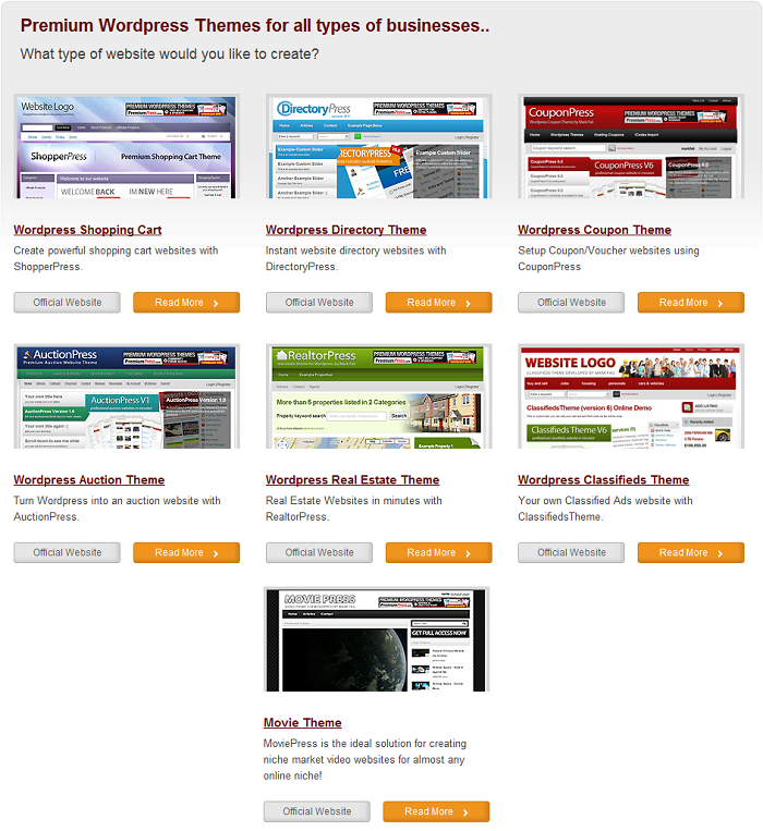 Premium WordPress Themes PremiumPress – ALL v6.7 THEMES NULLED