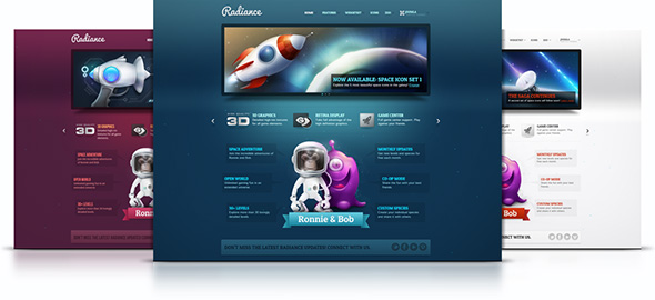 Radiance Theme for Joomla 2.5 & 1.5 April 2012 YOOtheme club theme
