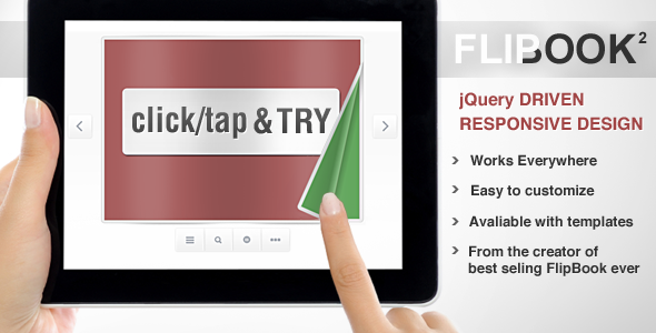 Responsive Flip Book powered by jQuery Codecanyon