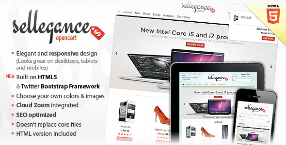 Sellegance 1.0.6 – Responsive and Clean OpenCart Theme 2012